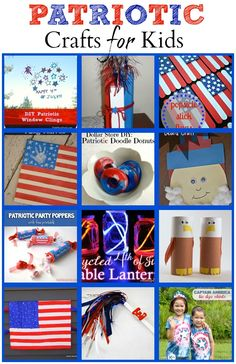 Patriotic Crafts for Kids - The Joys of Boys  I've put together some fun patriotic crafts for kids, including our Toothpaste Box Firecrackers, that your kids will love.  Just click through on the links below to take you to the instructions for each post.