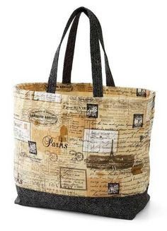Free Bag Pattern and Tutorial - Canvas Tote Bag