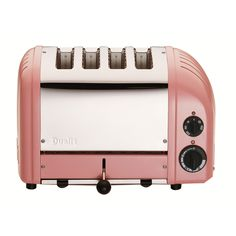 cute vintage style pink 4-slice toaster by Dualit