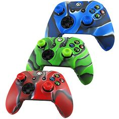 Pandaren Soft Silicone Skin For Xbox One Controller Set( Camou Skin X 3 + Thumb Grip X 6), 2015 Amazon Top Rated Faceplates, Protectors & Skins #VideoGames