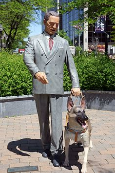 Statue of Morris Frank and Bubby, of The Seeing Eye, Morristown NJ