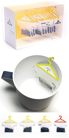 12 Creative Beverage Packaging Designs - packaging designs, creative package designs - Oddee - Hanger Tea Assignment It is a unique take on tea bags, usable, and humorous. The packaging is - Clever Packaging, Tea Packaging, Beverage Packaging, Pretty Packaging, Brand Packaging, Design Packaging, Innovative Packaging, Shirt Packaging, Japanese Packaging