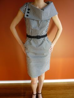 Burda dress pattern ( coton, col modifié)