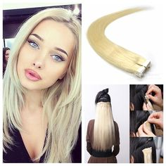 14-24 100g 100% Natural Hair Tape In Brazilian Indian Peruvian Human Hair Extensions Natural Color 613 1B# Tape Hair Extensions Tape in Human Hair Extensions Tape in Extensions Tape in Virgin Hair Extensions Online with $134.43/Piece on Aliqueen1238's Store | DHgate.com