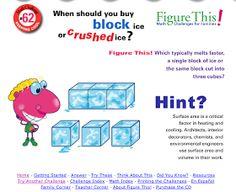 Figure This is a website produced by the National Council of Teachers of Mathematics . The site presents viewers with a series of math pr. Educational Videos, Educational Technology, Math Figures, Math Challenge, School Of Education, Applied Science, Math Problems, Elementary Math, Mathematics