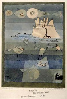 Paul Klee  'Exotic River Landscape'  1922 Ink and watercolor  19 x 26 cm