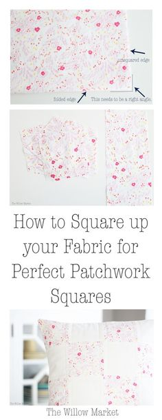 How to square your fabric for perfect patchwork squares.