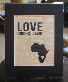 Love Crosses Oceans Zambia  Vintage Adoption by RedeemedTreasures, $15.00
