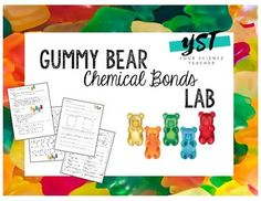 In this lab, students will be expected to distinguish between atoms and molecules and describe the differences between pure substances and mixtures. Students will then make models of ionic and covalent molecules using gummy bears. A quiz is included as well as an answer