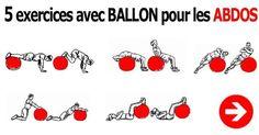 5 exercices avec ballon de gym pour les abdos