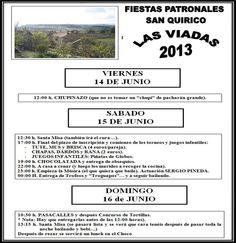 14-16 de Junio Fiestas Patronales Las Viadas - Valle de Tobalina