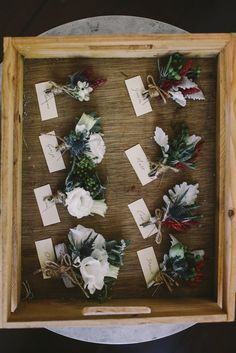 mixed floral boutonnieres