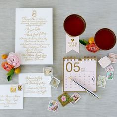 Wedding invites just looooove being styled with #themrsbox. Love this wedding stationery by @emilyjmccarthy styled by @type_a_society shot by @josevilla with @joelserrato featuring @trumpetandhorn rings!
