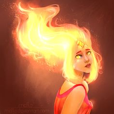 SPEEDPAINT: Don't use this artwork whithout my written permission Other works . Adventure Time Characters, Adventure Time Finn, Cartoon Network Adventure Time, Disney Characters, Flame Princess, Princess Art, Princess Zelda, Time Cartoon, Cartoon Movies