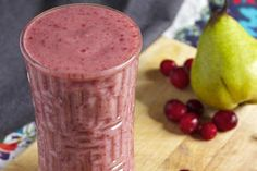 Fall Cranberry Pear smoothie...didn't expect the recipe to call for dates. I've never tried them before!