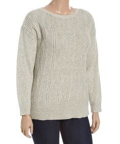 Love this Cloudy Opal Boatneck Sweater - Plus on #zulily! #zulilyfinds