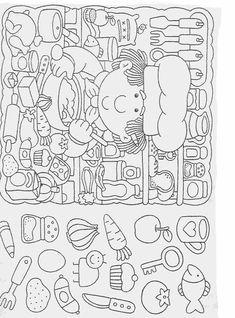 Elementary School Worksheets Complete and coloring 40 Preschool Worksheets, Kindergarten Activities, Preschool Activities, Printable Worksheets, Autism Learning, Kids Learning, Coloring Books, Coloring Pages, Hidden Picture Puzzles