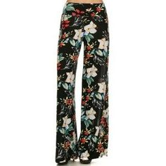03887907b1e Floral Print Palazzo Pants Boutique