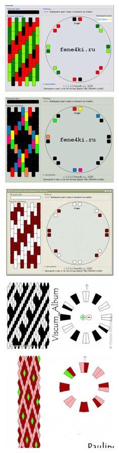 кумихимо с бисером схемы - Поиск в Google