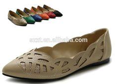new design fashion laser lady flat shoes 2014