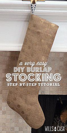 Dare to DIY: Burlap Stockings Tutorial