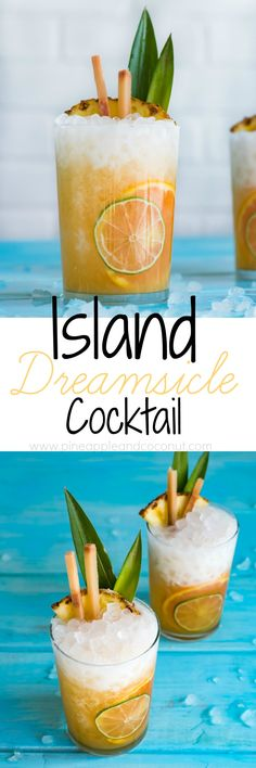 Island Dreamsicle Cocktail www.pineappleandcoconut.com Island Dreamsicle Cocktail will transport you to Hawaii with each sip. Made with @koloarum coconut rum.