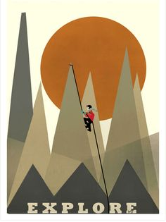 And this one:   21 Travel Posters To Inspire Your Next Adventure