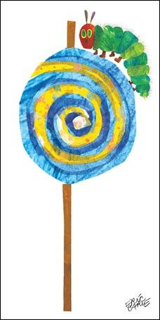 Eric Carle's Caterpillar Lollipop Canvas Wall Art by Oopsy Daisy