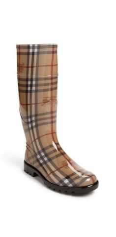 Burberry Tall Rain Boot