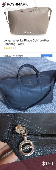 """Longchamp Le Pilage Cuir Weekender Tote Bag Beautiful bag! Solid colour interior. 20"""" zipper, 15"""" width and 12"""" height. Big bag! Fits soo much. No flaws whatsoever! No trades Longchamp Bags Totes"""