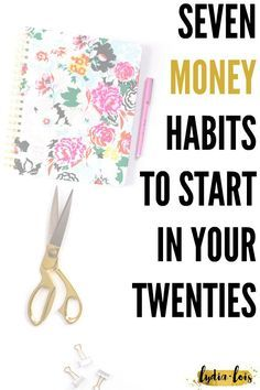 Building habits can be hard and when they involve your finances ever harder. Let me help by telling which seven money habits to start in your twenties and why! Click through to read about budgets, savings, and what it means to invest! Ways To Save Money, Money Tips, Money Saving Tips, How To Make Money, Budgeting Finances, Budgeting Tips, Financial Tips, Financial Literacy, Financial Planning