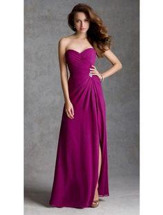 A line Sweetheart Chiffon Bridesmaid Dresses