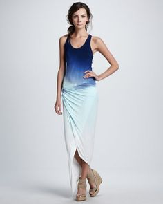 Sassy Sunset Ombre Maxi Dress by Young Fabulous and Broke at Neiman Marcus. I love this dress...BUT $246.00  Ummm I think not