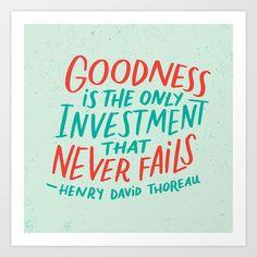 Henry David Thoreau, Goodness Art Print by Josh LaFayette