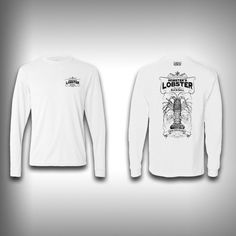 Vintage Lobster - Solar Performance Long Sleeve Shirts - Fishing Shirt