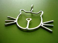 Sterling Silver Cat Necklace w/ Silver Chain by AZuri on Etsy, $32.00