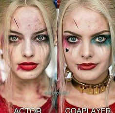Harley quinn suicide squad diference between actoe and cosplayer