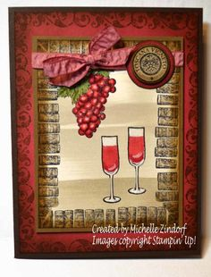 A Bit of Wine Card created by Michelle Zindorf using Stampin' Up! products…