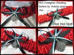 Red Firefighter wedding garter@Kim Roering.. for someday:)