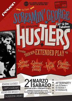 Cartel de  Screamin' George & The Hustlers Santana 27, Bilbao, 21/III/2015