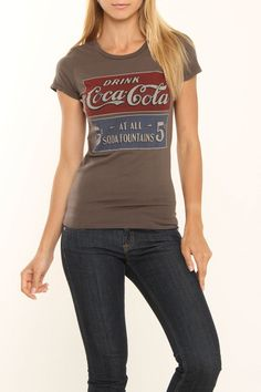 Bejeweled Drink Coca Cola Shirt In Gray by Bejeweled and Salvage