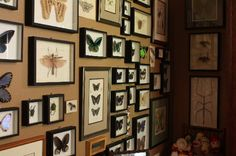 Turn that empty corner into a gallery wall. Grouping your collection all together in one place makes much more of an impact than spreading it around the house. Love this look!