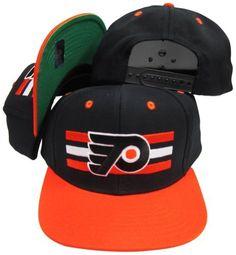 fd48391a54d Philadelphia Flyers Black Orange Two Tone Snapback Adjustable Plastic Snap  Back Hat   Cap by