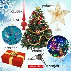 Polish Christmas vocab Polish Christmas, Christmas Bulbs, Polish Alphabet, Learn Polish, Polish Language, Polish Recipes, Logo Nasa, Pre School, All Things Christmas
