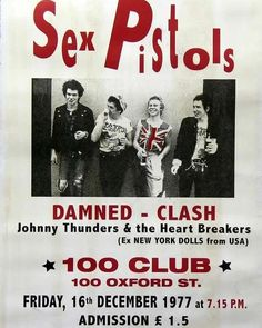 What a line up, and what the ticket costs. Rock Posters, Band Posters, Concert Posters, History Of Punk, Sid And Nancy, Johnny Thunders, Skinhead Girl, 70s Punk, Birthday Scrapbook