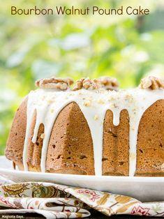 Bourbon Walnut Pound Cake   Magnolia Days