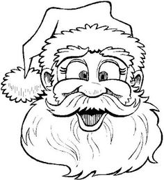 Printable Coloring Sheet Santa Claus Says Merry Christmas To Children  Juletegninger.free Print Out Santa Claus Happy Face To Coloring In Pages  For Kids.free ...