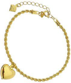 Pulseira folheada a ouro c  cordão baiano e coração 5085c5b2c5