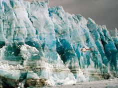 Helicopter tour of the Hubbard glacier in Wrangell-St. Elias NP, Alaska