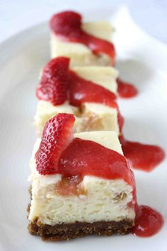 Rhubarb Cheesecake Bars with Gingersnap Crust Recipe